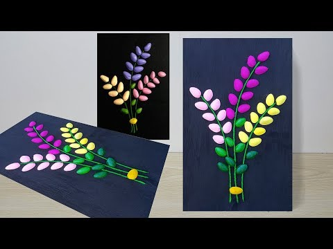 DIY Wall Decor Idea From Waste Materials // Wall hanging craft ideas //Pistachio Shells