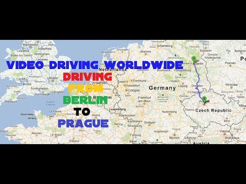 Driving from Berlin Germany to Prague Czech Republic | Video Driving Worldwide