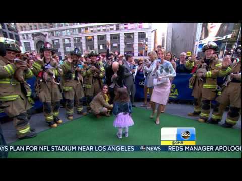 Amy Robach - strappy high heels close up - April 22, 2015
