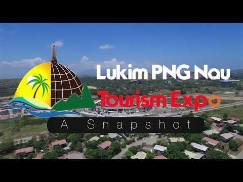 Lukim PNG Nau Tourism Expo Infographics