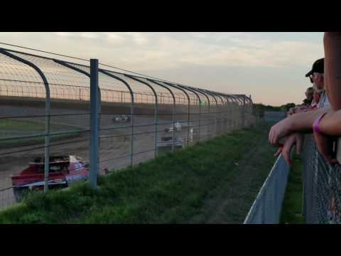 Cole Egge Racing sportmod at Junction Motor Speedway  heat race 8/13/16