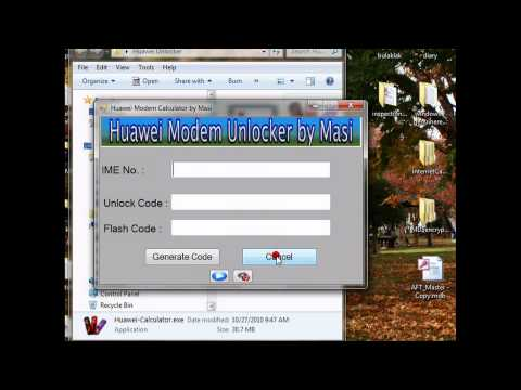 Huawei Modem Unlock Calculator - YouTube