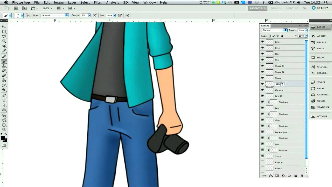 Photoshop Tutorial - How to draw cartoons in Adobe ...