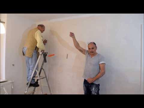 Projekt Küche renovieren Teil 9 Wände Tapezieren