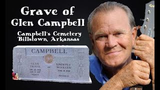 Grave of Glen Campbell in Billstown, AR - Country Music Star