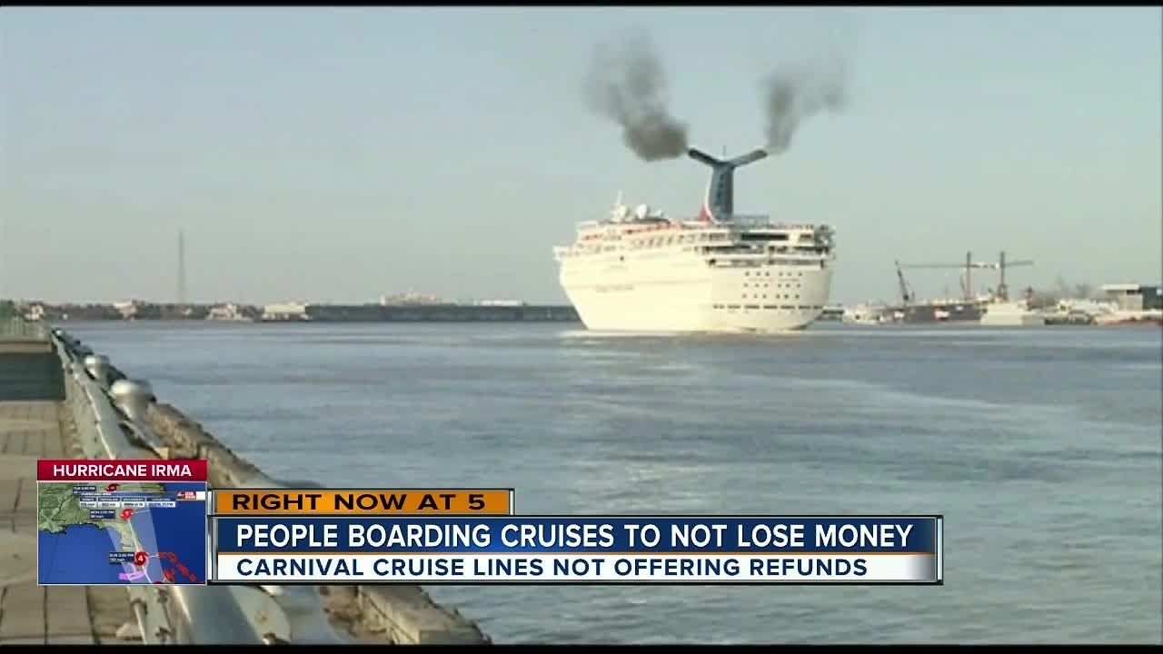 Carnival Passengers Upset Because Ships Sail Despite Hurricane - Cruise ship trouble