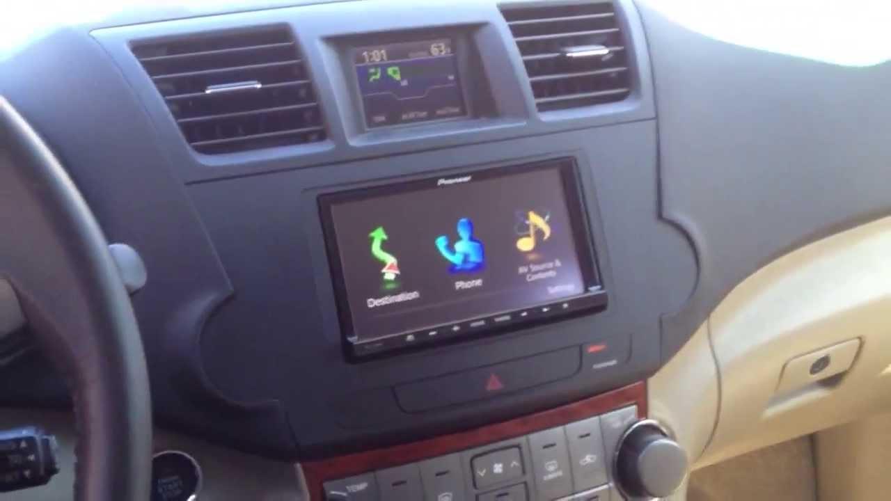 Toyota Highlander With Avic Z140bh Youtube