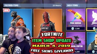 FORTNITE ITEM SHOP UPDATE 'NEW' HYPERNOVA SKIN, RED KNIGHT, RIOT, ASSAULT TROOPER - 4 MARS 2019