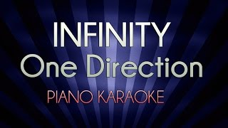 Infinity - One Direction   Lower Key (Official Piano Karaoke Instrumental Lyrics Cover Sing Along)