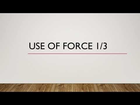 Washington State Criminal Justice Training Center: Use of Force Training Part 1