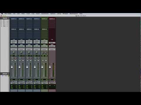 Routing Signals Using Paths in Pro Tools
