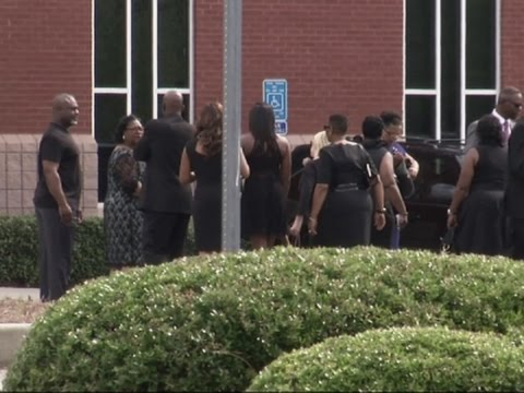 Raw: Bobbi Kristina Brown funeral scene