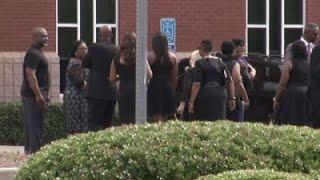 Raw: Bobbi Kristina Brown funeral scene