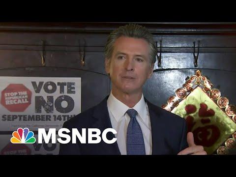 Early California Recall Polling Favors Gov. Newsom