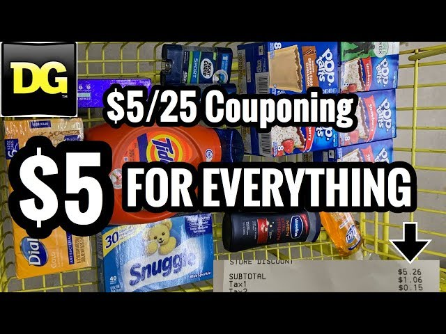 Dollar General GREATNESS | $5/25 Couponing Success | Paid $5 for 14 Items! ????????