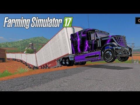 Tren de Carretera | A vender Cerdos | Farming Simulator 17 | DLC Platinum Expansion