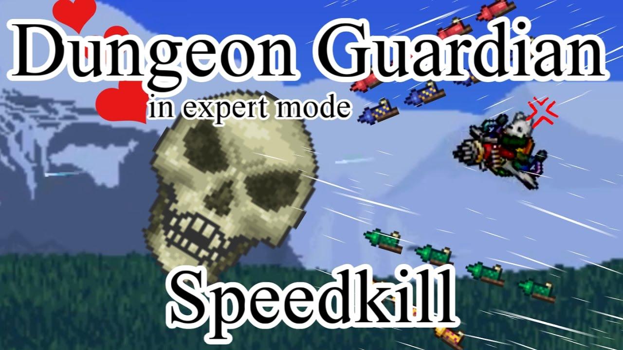 Terraria - Expert Dungeon Guardian Speedkill in 8 seconds