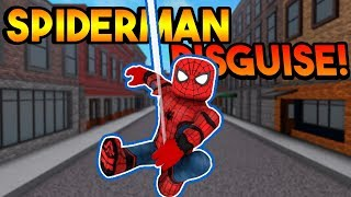 SPIDERMAN DISGUISE TROLLING! | ROBLOX: Super Power Training Simulator