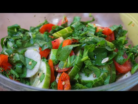 Tasty Green Salad Recipe | Quick Indian Style Salad Recipe