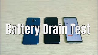 Samsung Galaxy J8 vs Asus Zenfone Max Pro M1 Battery Drain Test