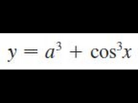 y = a^3 + cos^3(x), Find the derivative of the function ...