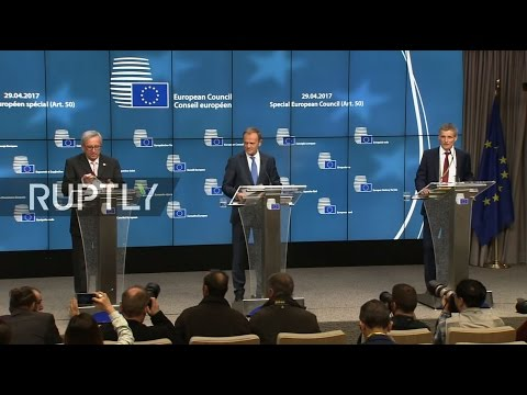 LIVE: EU Special European Council on Article 50 - Press conference by Tusk and Juncker