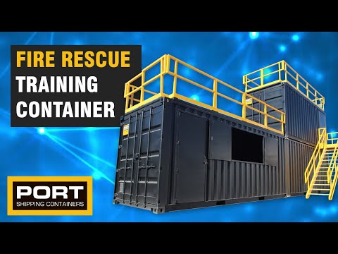 Custom Built Confined Space Training Containers For Fire Rescue Scenarios - Port Shipping Containers