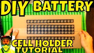 diy battery tutorial how to put 18650 cell holder together lithium batteries spacer separator