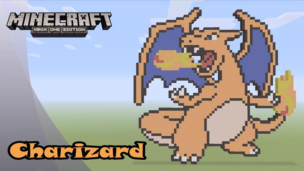 Minecraft Pixel Art Tutorial And Showcase Charizard Pokemon
