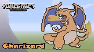 Minecraft: Pixel Art Tutorial and Showcase: Charizard (Pokemon)