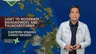 UH: Eastern Visayas at Davao Region, makararanas ng pag-ulan ngayong araw