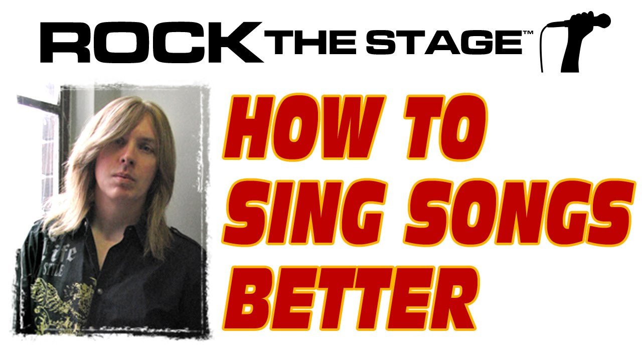 How to Sing Better Singing Songs / Free Singing Lesson / Vocal Tip ...