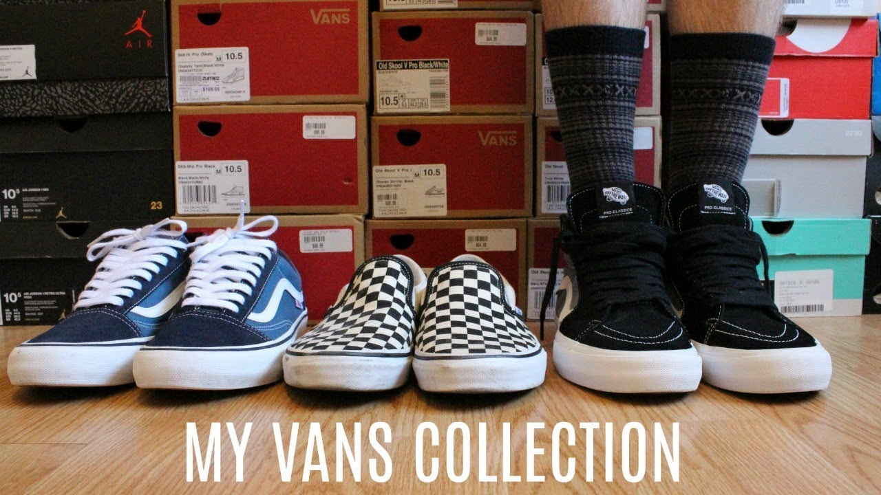 061dc0d798ca02 MY VANS SHOE COLLECTION ON FOOT - YouTube