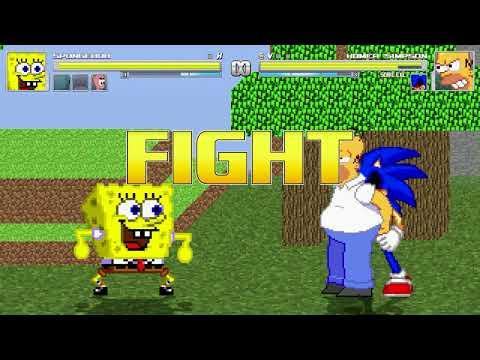 AN Mugen Request #1498: Takumin, Pingu, Spongebob, Worms Army VS Homer & Sonic.exe
