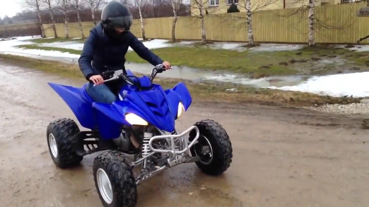 Yamaha Raptor 350 Gytr Girl S First Test Drive Youtube
