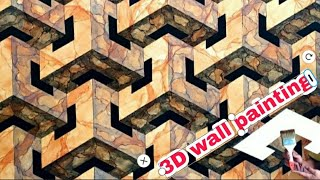 3D WALL PAINTING || CAT TEMBOK 3D || 3D WALL PAINTING NEW DESIGN IDEAS || 3D WALL TEXTURE DESIGN