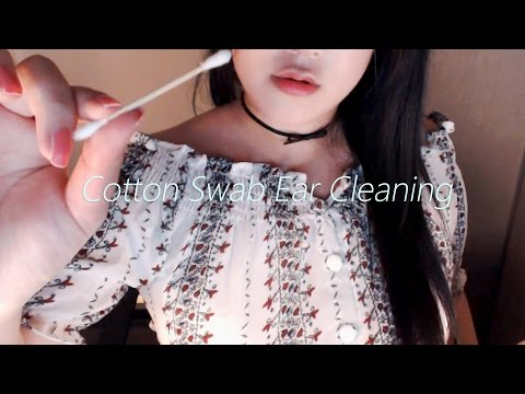 (Re-upload) No Talking ASMR Realistic! Cotton Swab Ear Cleaning 1 Hour