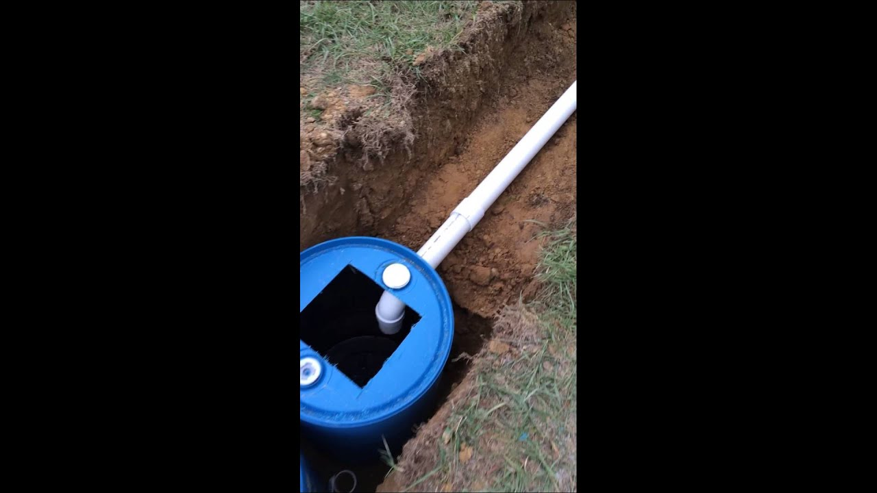 Simple Diy 3 Barrel Septic System Youtube
