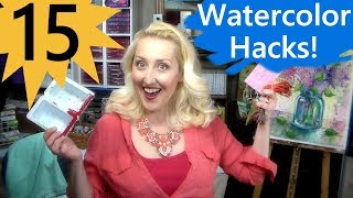 15 Watercolor Hacks (cheap or free!)