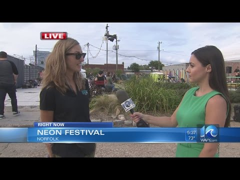 NEON Festival in full swing for second year in downtown Norfolk