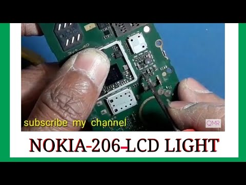 Nokia 206 display LCD light solution, nokia display light solution