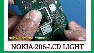 Nokia 206 display  LCD light solution, nokia  display light solution
