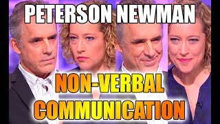 Non-verbal communication in the Jordan Peterson vs Cathy Newman debate