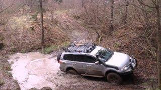 Test drive off road Mitsubishi Pajero, Volkswagen Touareg, Renault Duster, Toyota Land Cruiser, Chev