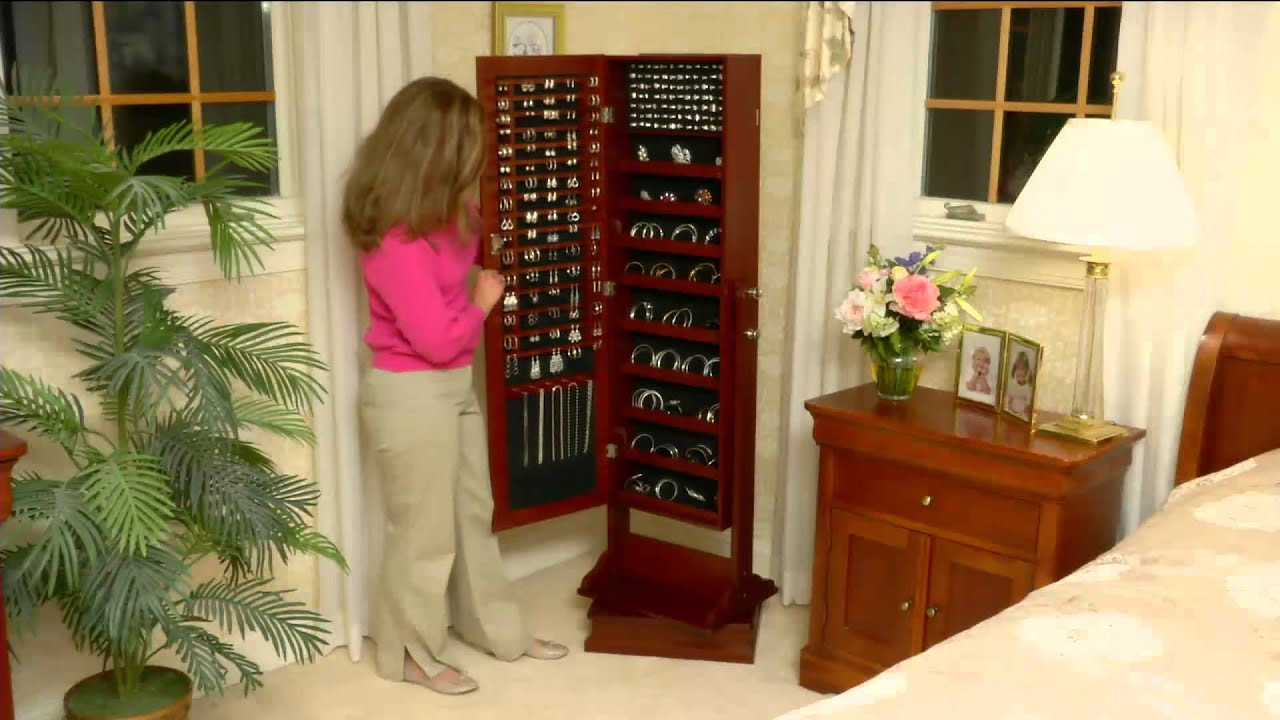 Gold Silver Safekeeper DoubleSided Jewelry Armoire by Lori
