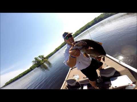 Monster Wisconsin Smallmouth Fishing On Long Lake