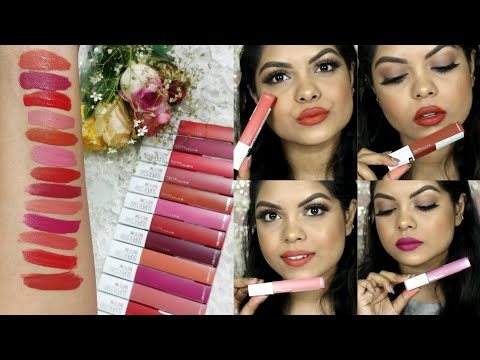 all-shades-maybelline-super-stay-matte-ink-liquid-lipsticks-|-swatches-and-review-|-kolkata-india