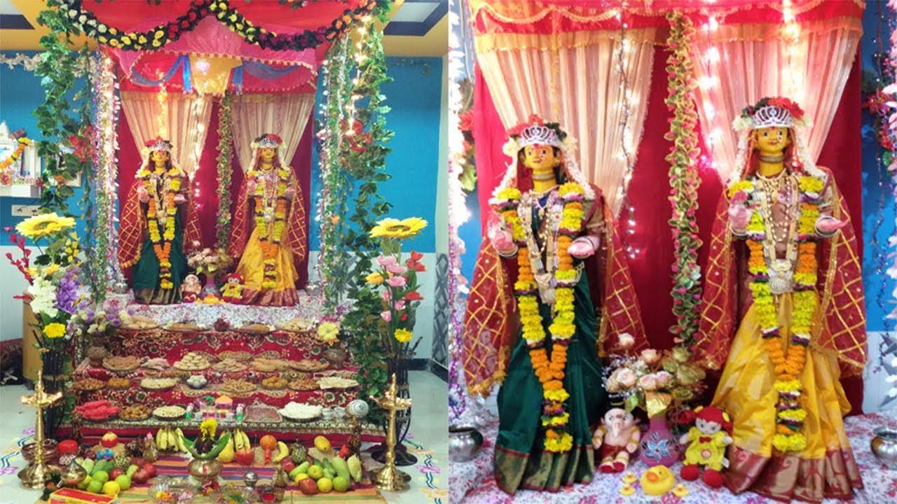 ganpati decoration ideas at home 2012. गौरी गणपती सजावट decoration ideas 2014 | gauri ganpati for home to at 2012 e