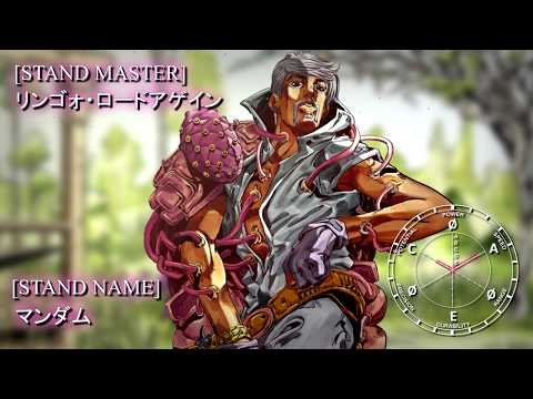 Ringo Roadagain - Mandom: JOJO Part 7 Stand Eye Catch - YouTube