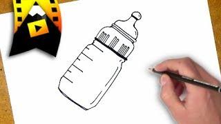 como dibujar un biberon   como desenhar uma mamadeira